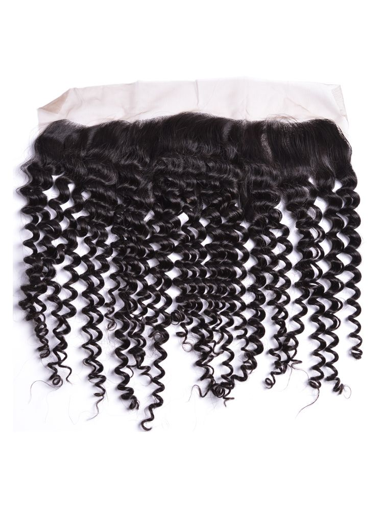 Virgin Mongolian Remy Curly Lace Frontal