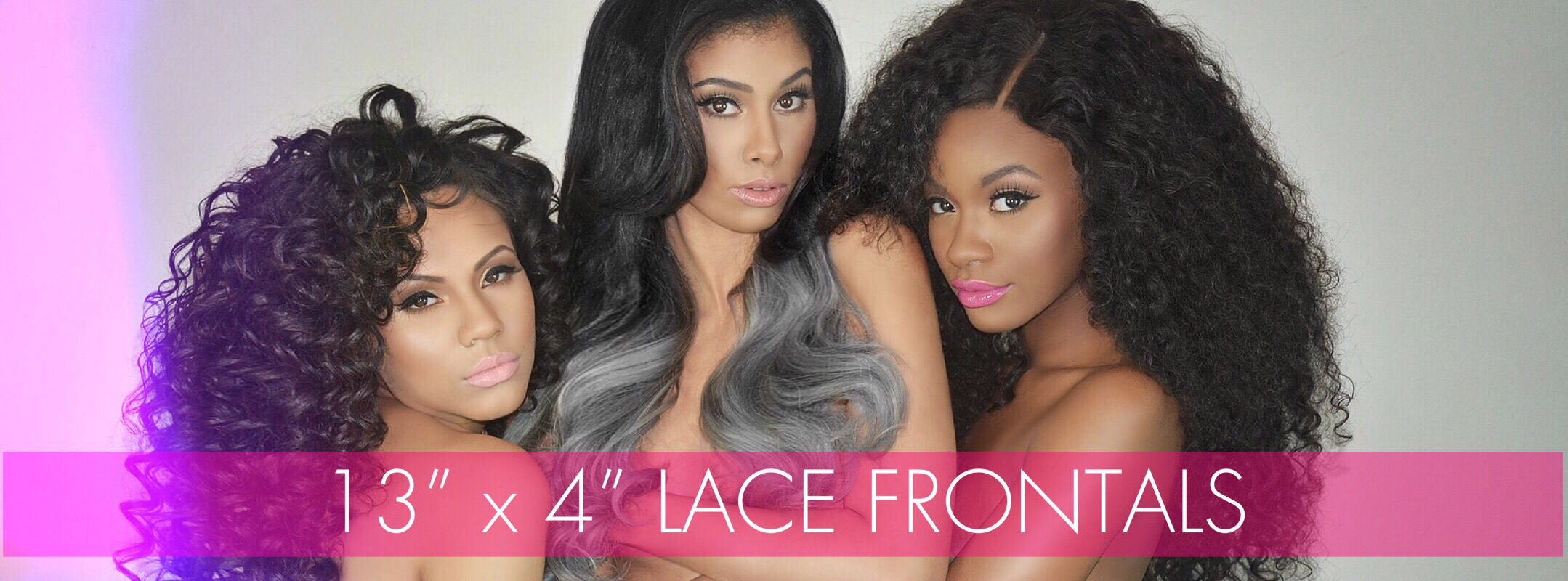 "13"" X 4"" Lace Frontals"