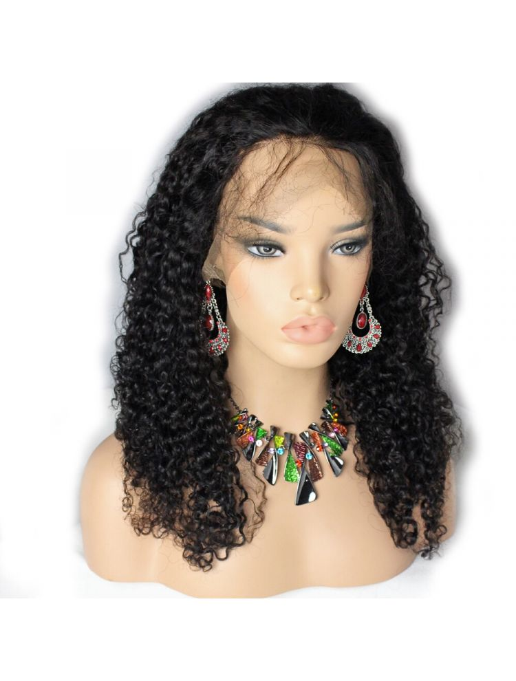 Virgin Mongolian Curly Custom Lace Front Wig
