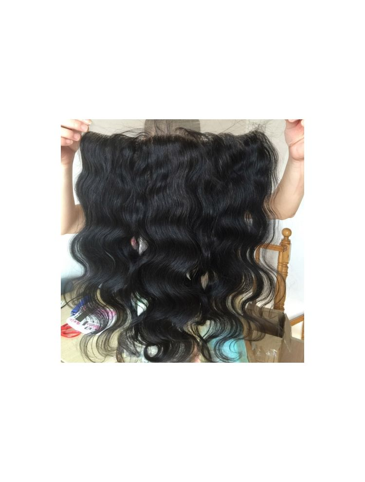 "Virgin Brazilian Remy Natural Wave 13"" x 6"" Lace Frontal"