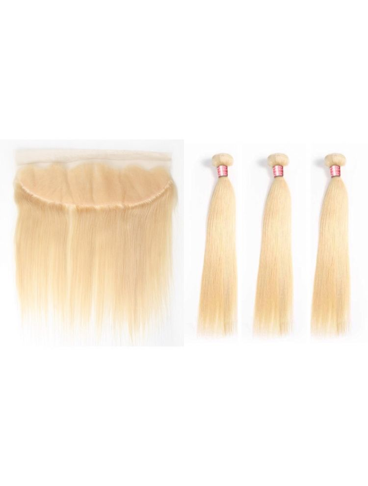 Virgin European Natural Texture  3 Bundle & Lace Frontal Package