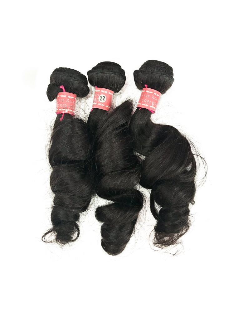 Triple Threat Virgin Peruvian Remy Natural Wave (3 Bundles)