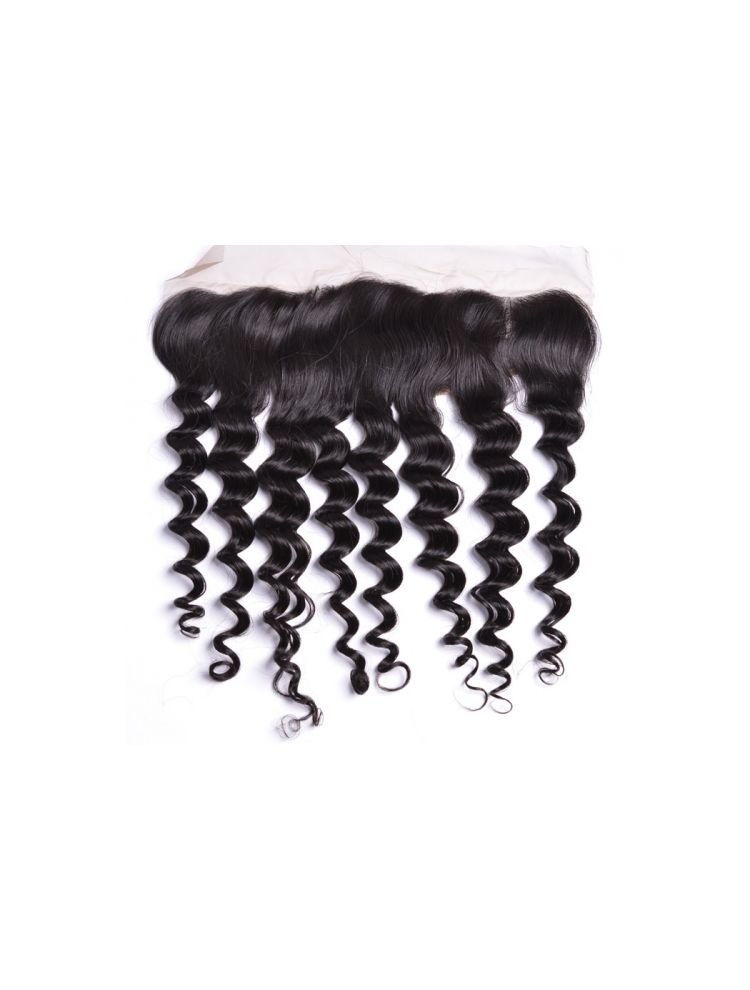 """Virgin Brazilian Remy Curly 13"""" x 3"""" Lace Frontal"""