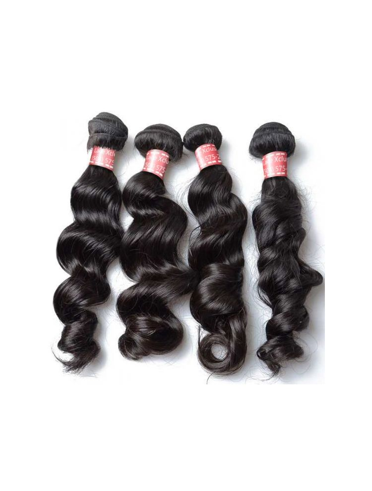 Quadruple Quarry Virgin Brazilian Remy Natural Wave (4 Bundles)