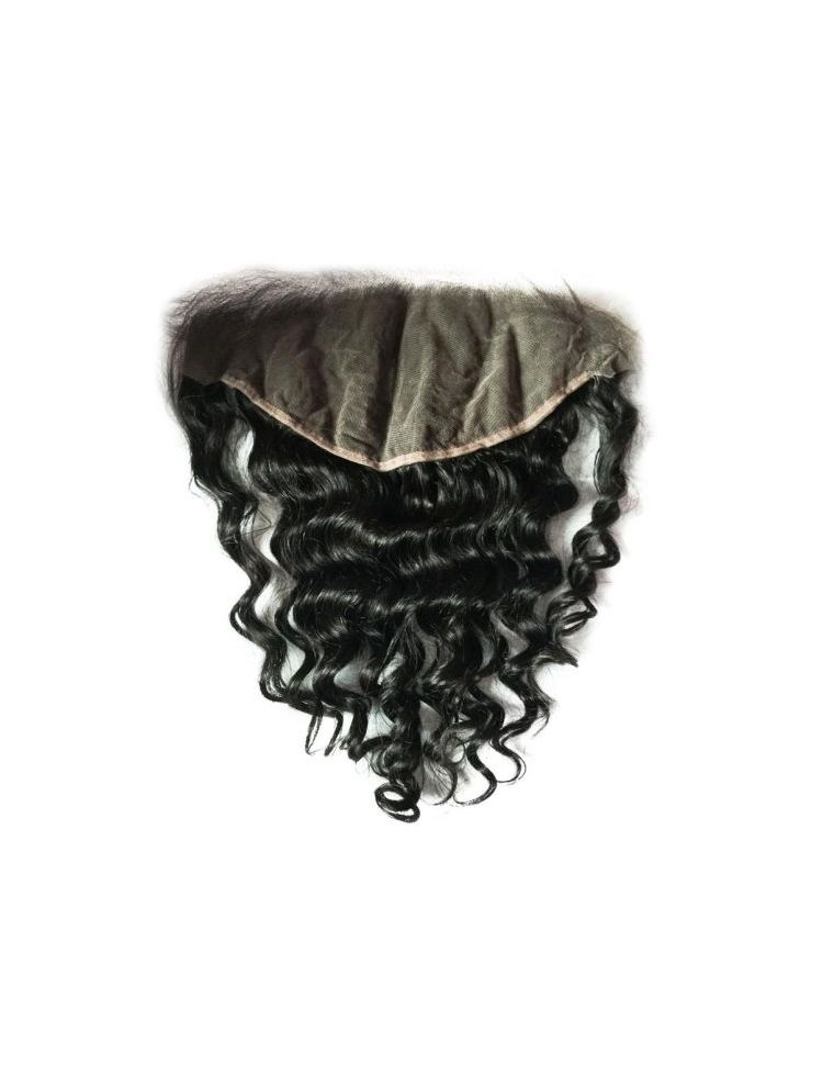 """Virgin Malaysian Remy Curly 13""""X6"""" Lace Frontal"""