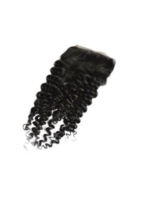 Virgin Mongolian Remy Curly Lace Closure